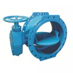 Double flange Butterfly Valves with gearbox and Handwheel